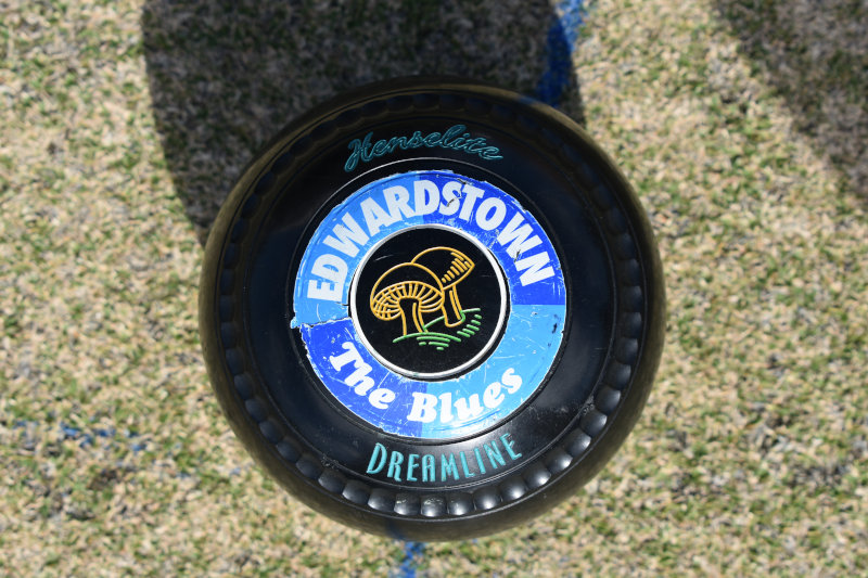 lawn ball with the club's name on it